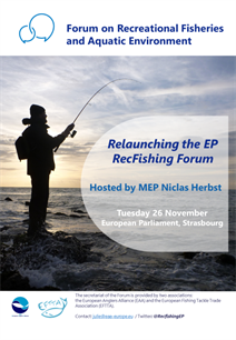 EAA and EFTTA ready to relaunch the Recfishing Forum in the European Parliament!